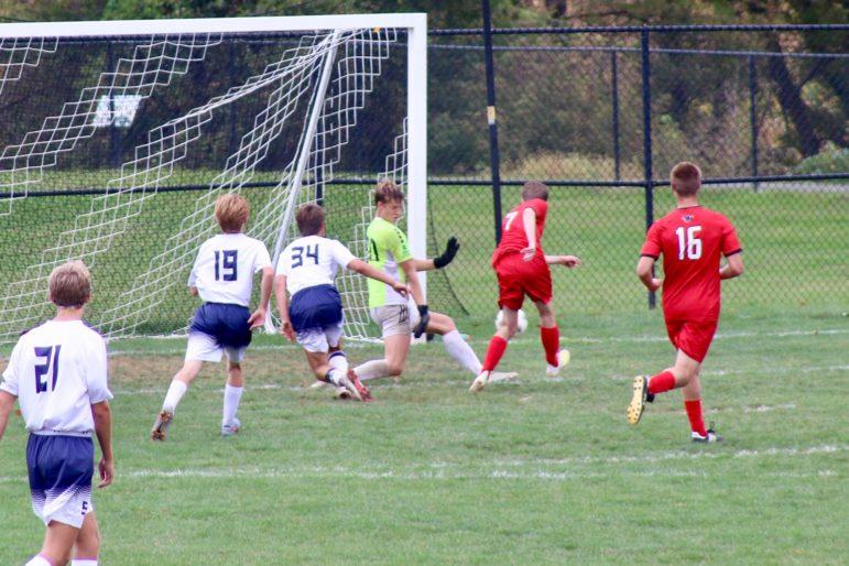 Ethan senior goal soccer