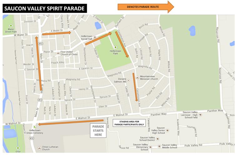Spirit Parade Map