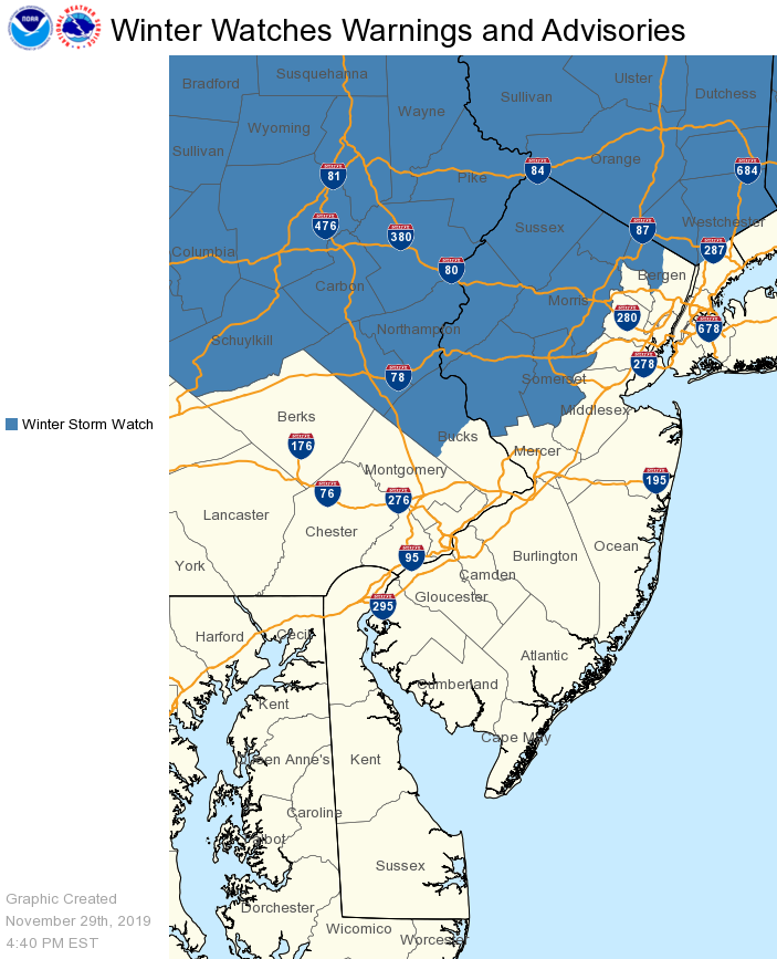 WSW 11.29.19 Winter Storm Watch