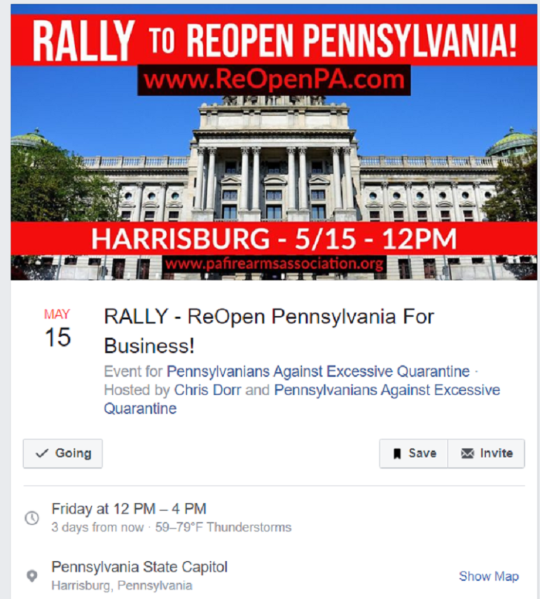 Reopen PA Rally