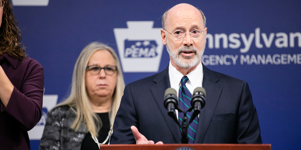 Tom Wolf Green Counties COVID-19