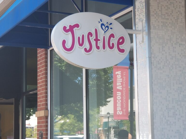 Promenade Shops Justice Closed