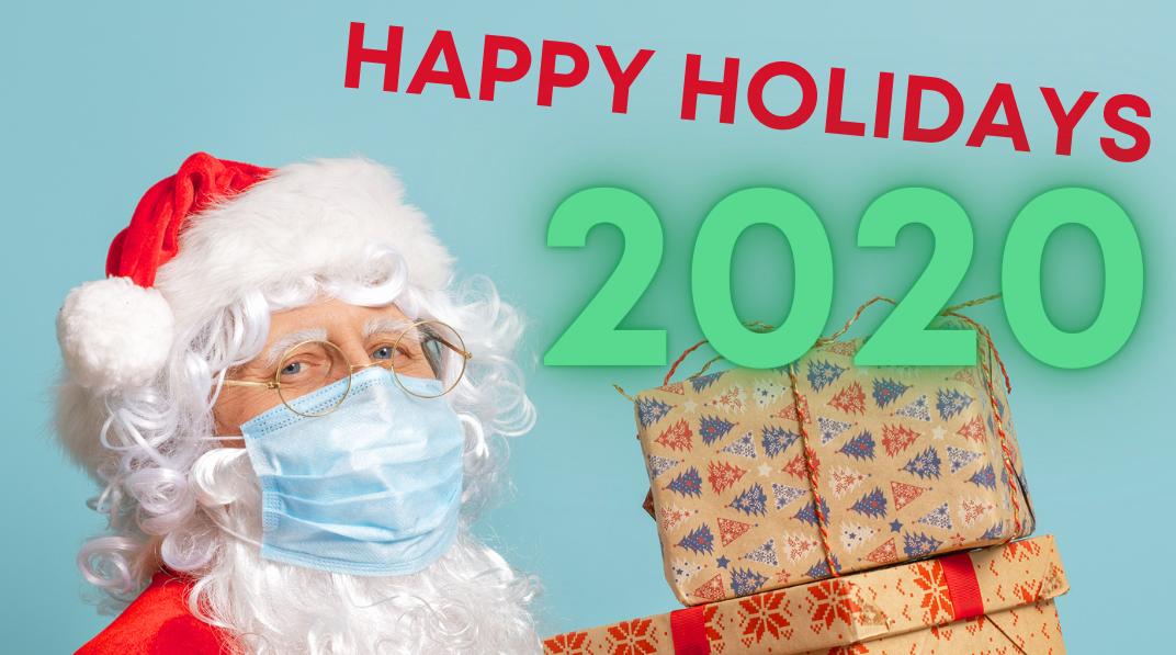 happy holidays 2020 Santa Promenade Shops