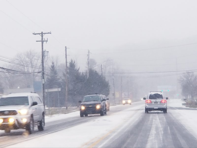 Winter Storm Snow Lower Saucon Traffic