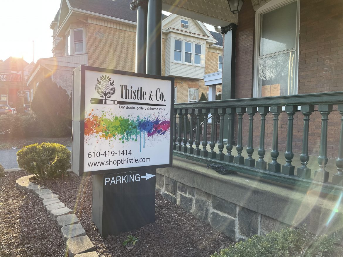 Thistle & Co. Sign