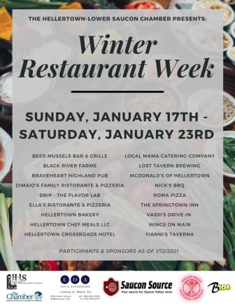 Hellertown Lower Saucon Winter Restaurant Week