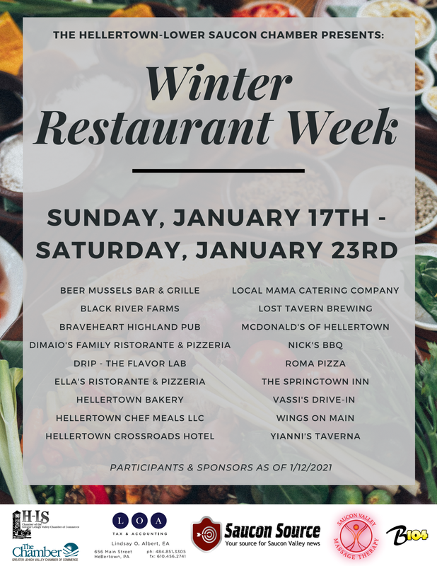 Hellertown Lower Saucon Winter Restaurant Week
