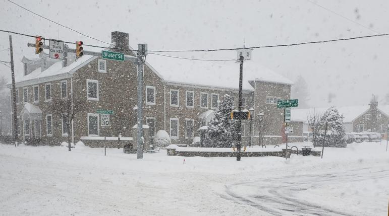 Borough Hall Snowstorm