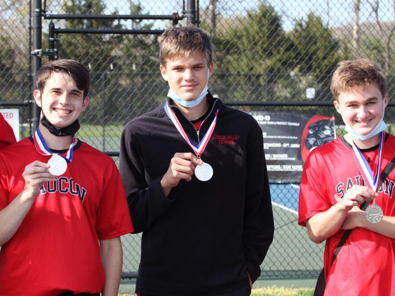 Saucon Boys Tennis Ackerman Nagy Andres L to R (2)