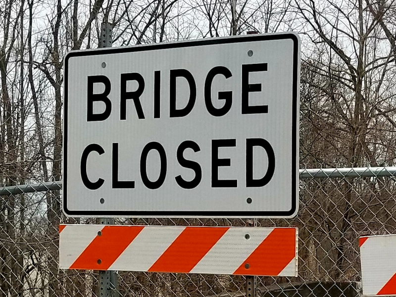 Bridge Closed Coopersburg