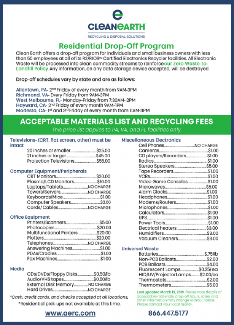 Electronic Recycling Fees