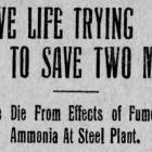 Ammonia Accident 1917