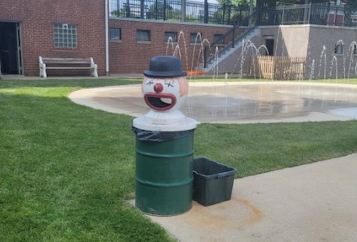 Clown Garbage Can Lid Pool
