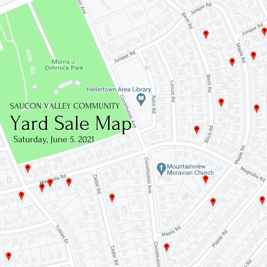 Saucon Valley Community Yard Sale Map
