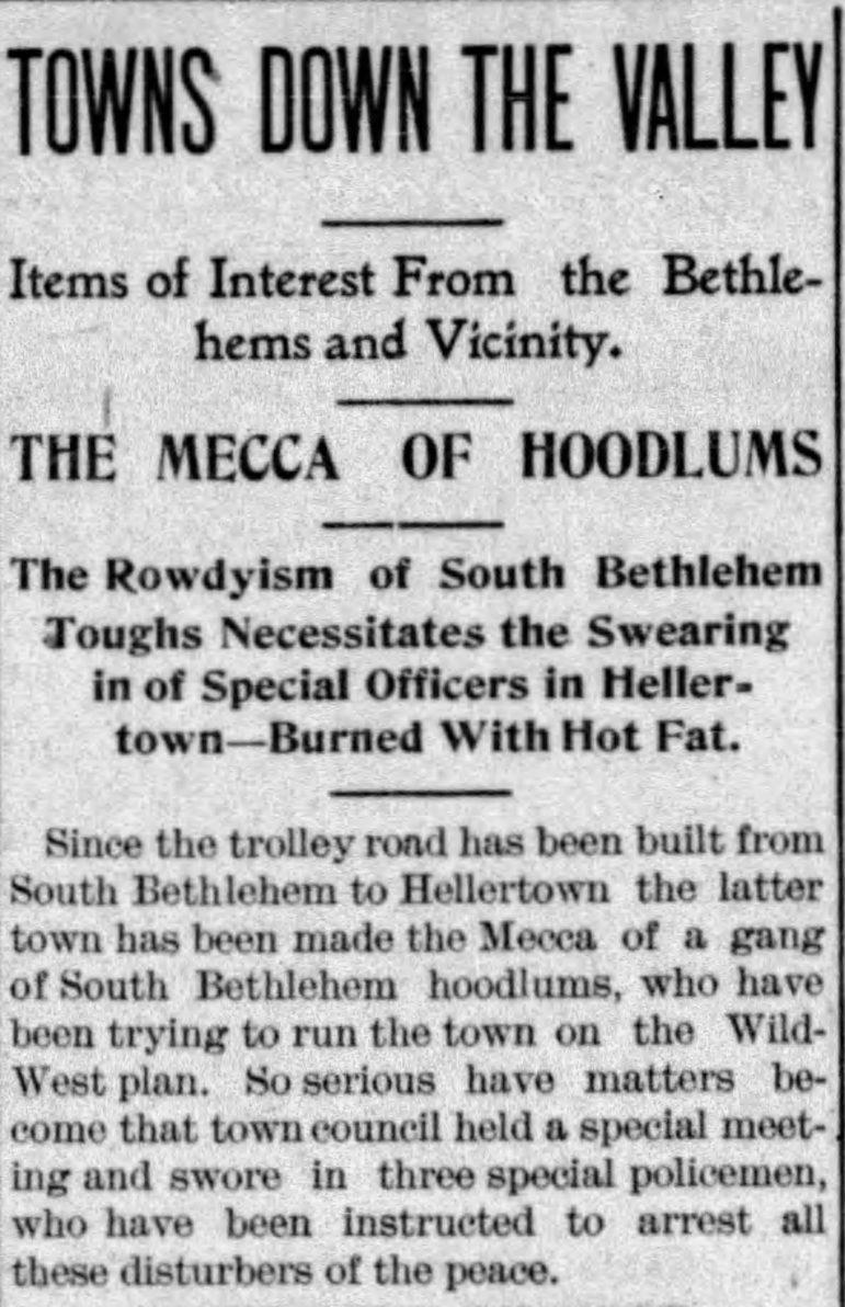 Hellertown South Bethlehem Toughs