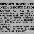Olden Days Hellertown 1918