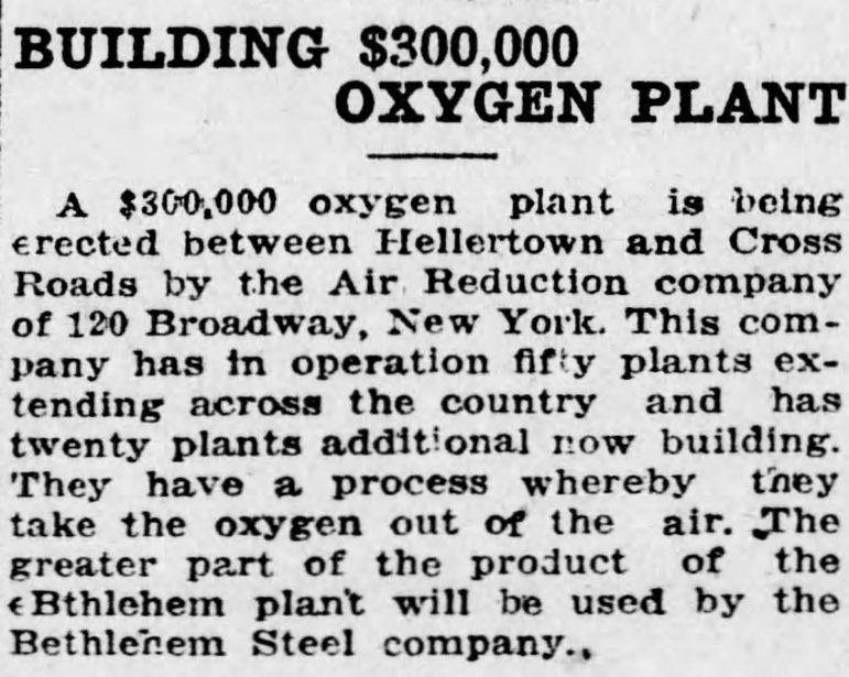 Air Reduction Company The_Allentown_Democrat_Fri__Nov_22__1918_