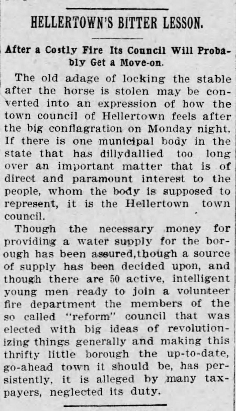 Dewey Fire Hellertown