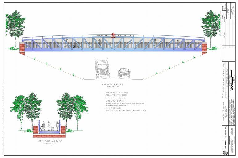 Upper Saucon Township and DeSales University enter licensing agreement for pedestrian bridge