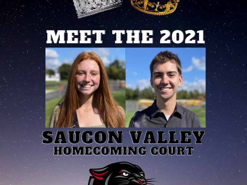 2021 Homecoming Court Saucon Ethan Grim Cate Leidich