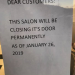 Lower Saucon Township Salon Closing Its Doors, Sign Says